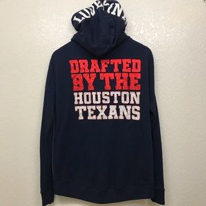VS Pink Hoodie Drafted By Houston Texans XS